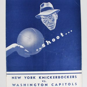1948 New York knickerbockers Vs. Washington Capitols Program