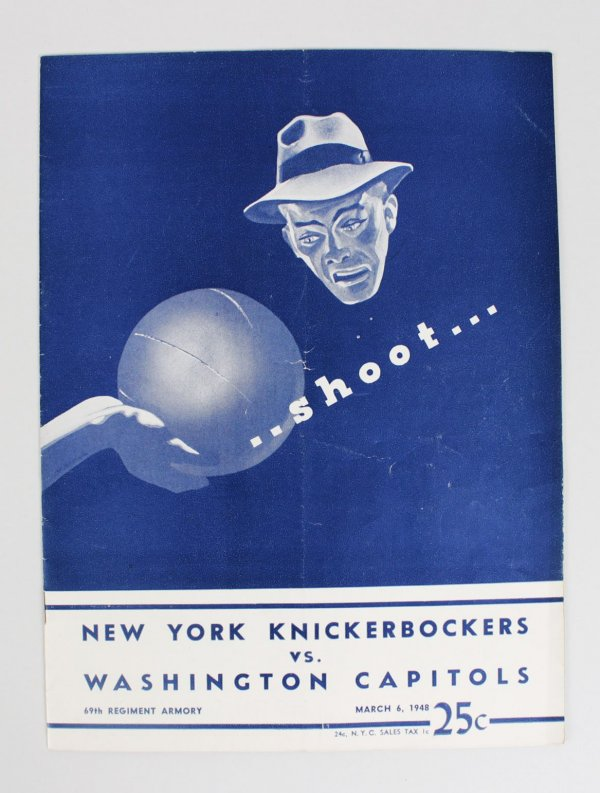 1948 New York knickerbockers Vs. Washington Capitols Program