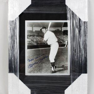 "Yankees - Mickey Mantle Signed, Inscribed ""Best Wishes"" 8x10 Photo Display (JSA)"