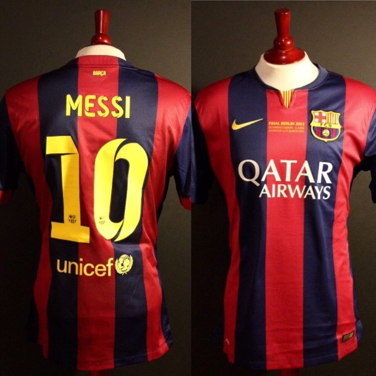 94f5dd36f A Lionel Messi Game-Used  10 FC Barcelona Home Shirt. 2015 UEFA Champions  League Final. (Includes Shirt