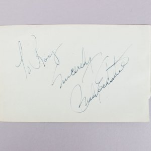Mr. B - Billy Eckstine Signed & Inscribed 4x6 Vintage Cut (JSA COA)