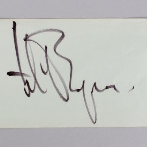 The Magnificent Seven - Yul Brynner Signed 3x5 Vintage Cut (JSA COA)