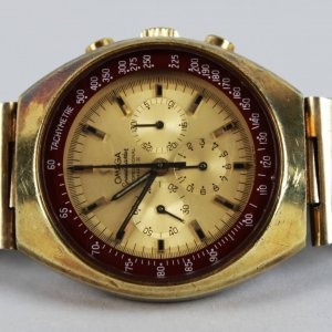 Super Rare. Omega Speedmaster Mark II Gold Watch