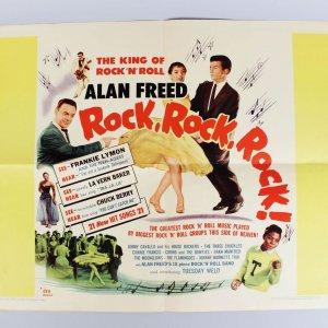 1956 Rock, Rock, Rock! - Half Sheet 22x28 Movie Film Poster - Chuck Berry, Alan Freed etc.