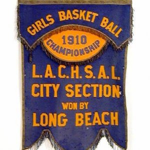 1910 Girls Basketball Championship Banner from Long Beach CA L.A. County
