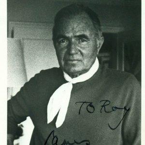 "English Actor - James Mason Signed, Pers. ""To Roy"" 3x5  Studio Portrait Photo - JSA"