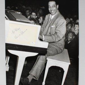 Count Basie,Tennessee Williams Signed Cut & Teenie Harris 16x20 Photo- COA JSA