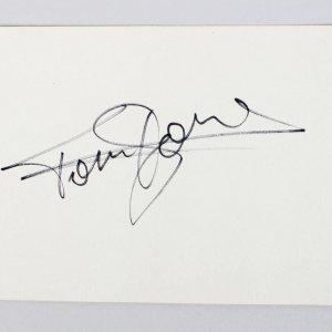 Star Trek - David Warner & Singer - Tom Jones Signed 3x4 Cut (JSA COA)