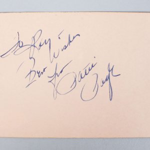 Tennessee Waltz - Patti Page Signed & Inscribed 3x5 Vintage Cut (JSA COA)