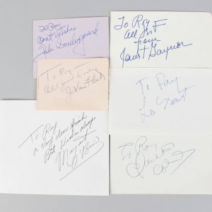 Female Academy Award Winners Signed Lot (6) Vintage Cuts (JSA)