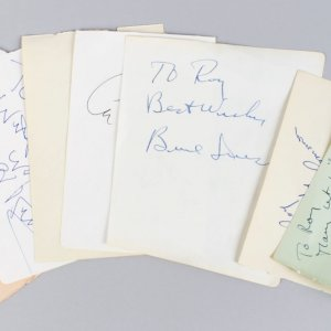 Male Academy Award Winners Signed Lot (7) Vintage Cuts - JSA