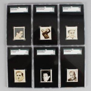 1948 Kelloggs Pep Star Sports Stars Graded Cards - (6) Lot Bob Waterfield, Sam Snead, George Mikan, Lou Groza etc.