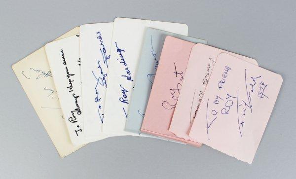 Silent Movie Star Signed Lot (9) Vintage Album Page Cuts (JSA)