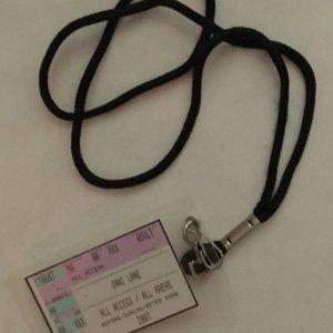 Jani Lane's Personal 2007 Solo Tour Pass- (Provenance Letter)