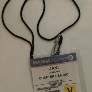 Jani Lane's Personal NAMM Show Pass 2007 - Provenance Letter