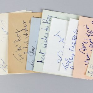 Opera & Stage Singers Signed Lot (11) Vintage Album Page Cuts (JSA)