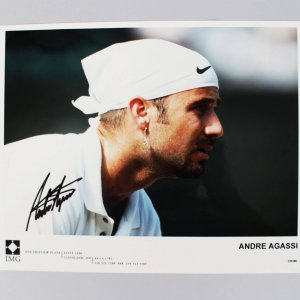 Tennis Pro - 1995 U.S. Open - Andre Agassi Signed 8x10 Photo - JSA