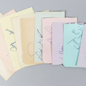 1950-60's Golden Age Male TV Star's Signed Lot (10) Vintage Album Page Cuts (JSA)