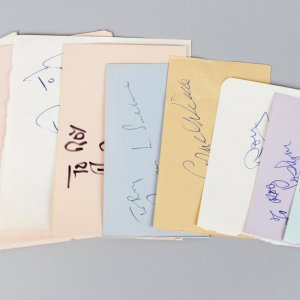 1930-60's Male Movie Star Signed Lot (10) Vintage Album Page Cuts (JSA)