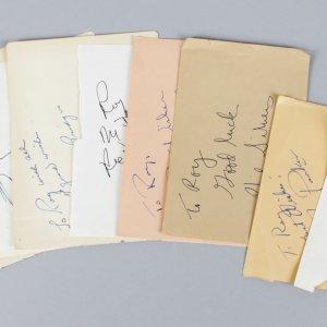 1950-60's Golden Age TV Stars Signed Lot (10) Vintage Album Page Cuts (JSA)