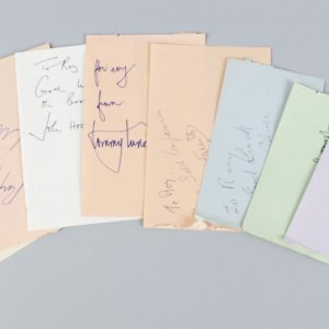 Producers & Directors Signed Lot (9) Vintage Album Page Cuts - JSA