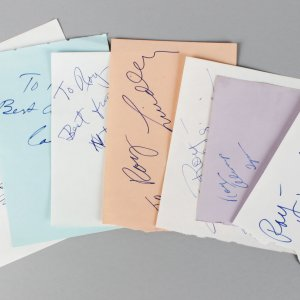 1960-70's Actress TV Star's Signed Lot (7) Vintage Album Page Cuts (JSA)