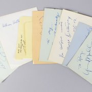 Musical & Song Writer Composer Signed Lot (10) Vintage Album Cuts (JSA)