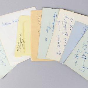 Musical & Song Writer Composer Signed Lot (10) Vintage Album Cuts (JSA)