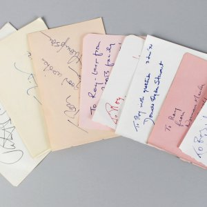 Authors & Play Writers Signed Lot (9) Vintage Album Page Cuts (JSA)