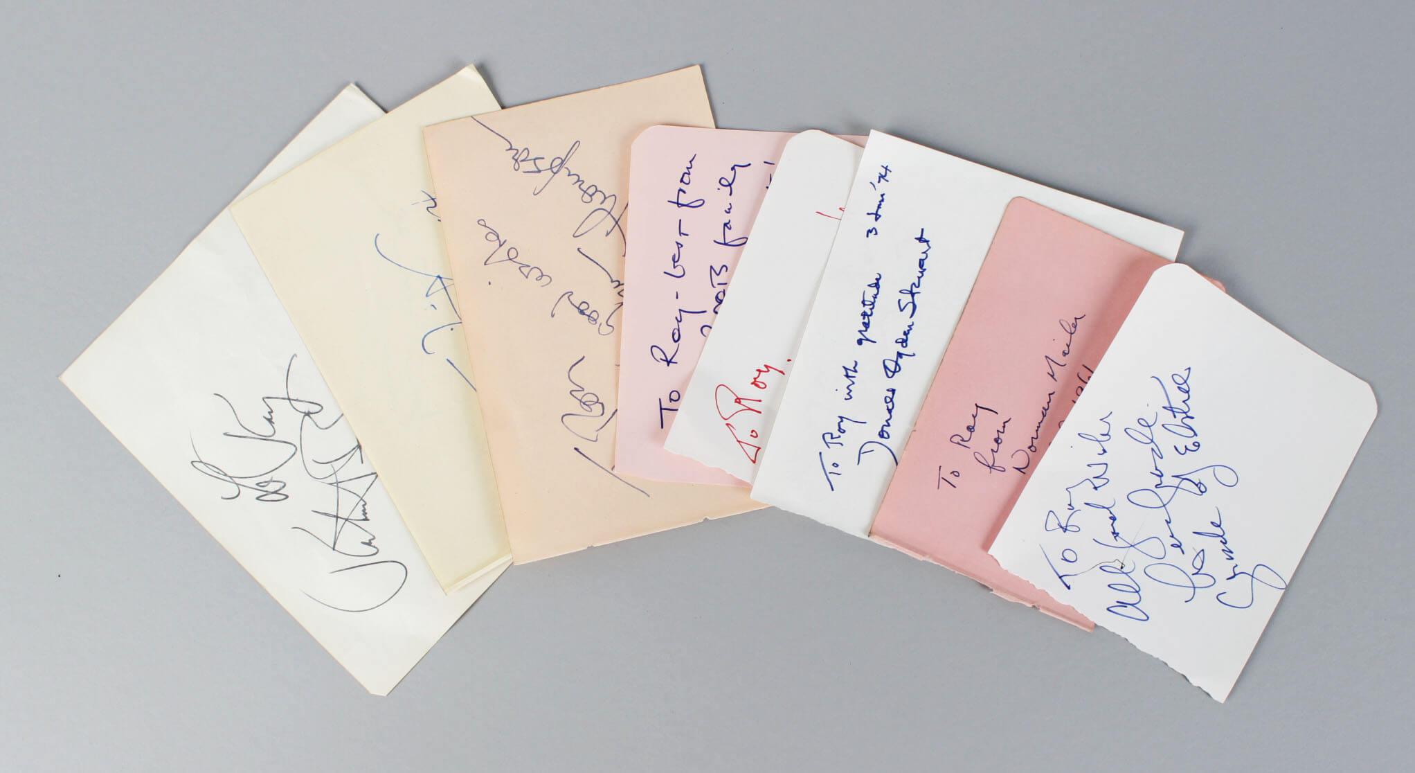 Authors & Play Writers Signed Lot (9) Vintage Album Page Cuts (JSA)56853_01
