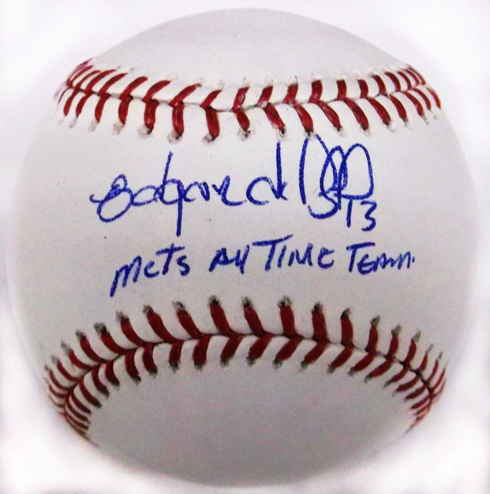 New York Mets Edgardo Alfonzo Signed Official Baseball Inscribed