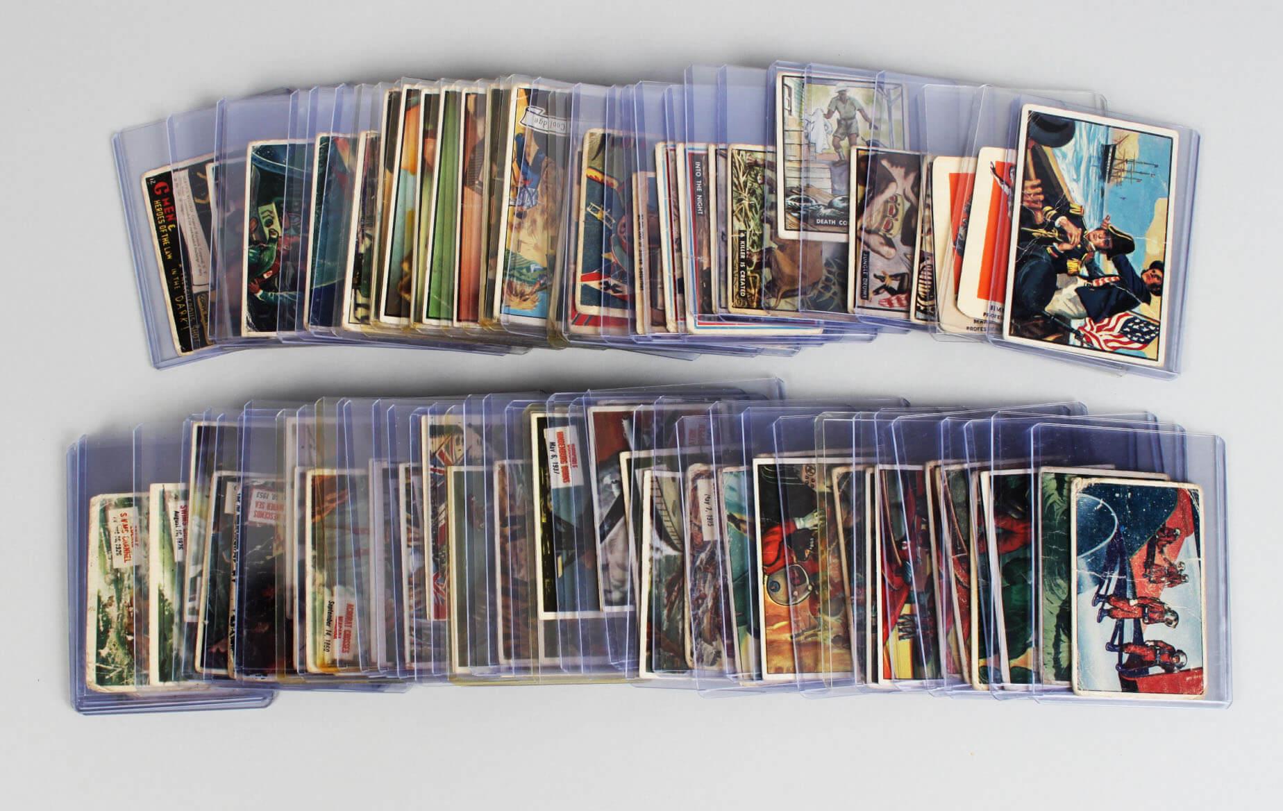 Mega 1930s-50s Non Sport Trading 74 Card Lot – G-Men, T.V. & Radio Stars, Scoops, Presidents, War, Sky Birds, Wheaties etc.57017_01