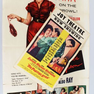 "1953 ""Miss Sadie Thompson"" Movie Poster & 1960 ""The Fugitive Kind"" Film Lobby Window Card - Marlon Brando"
