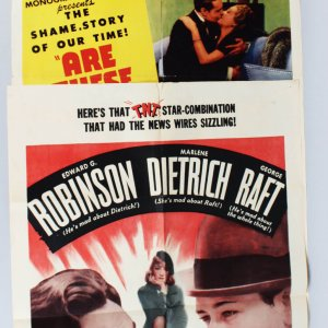Film Poster Trio Lot - 1944 Are These Our Parents?, 1941 Man Power & 1953 Man in The Attic