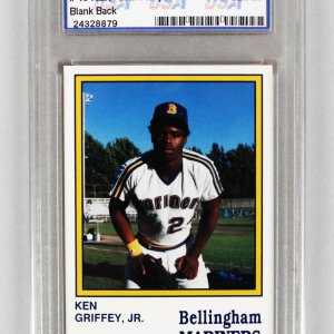 1987 Bellingham Mariners - Ken Griffey, Jr. Minor League Rookie Card (Rare Blank Back Variation)