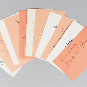 Chicago Bears Signed 3x5 Index Cards Lot (11) - Connor, Ditka, McAfee etc. (JSA)