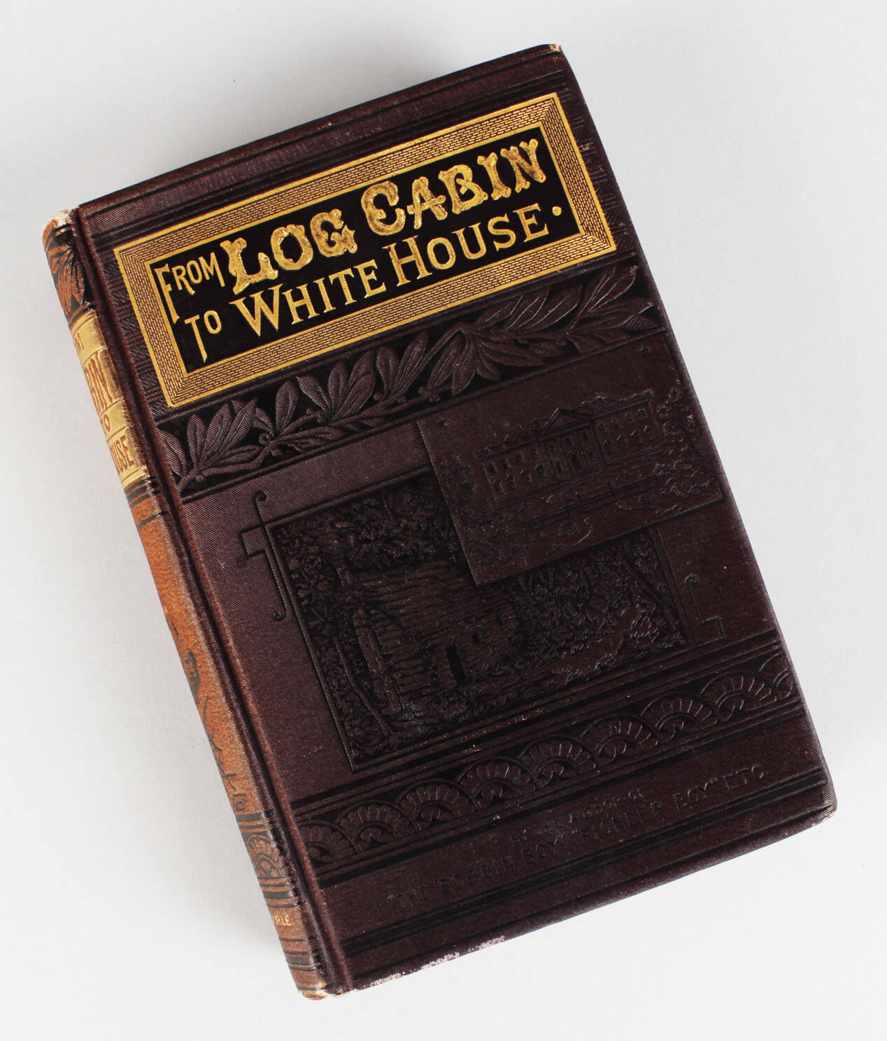 1880 from log cabin to the white house life of james a for Log home books