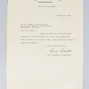 Dec. 3, 1924 - First Lady - Eleanor Roosevelt Signed Typed Letter TLS (JSA)