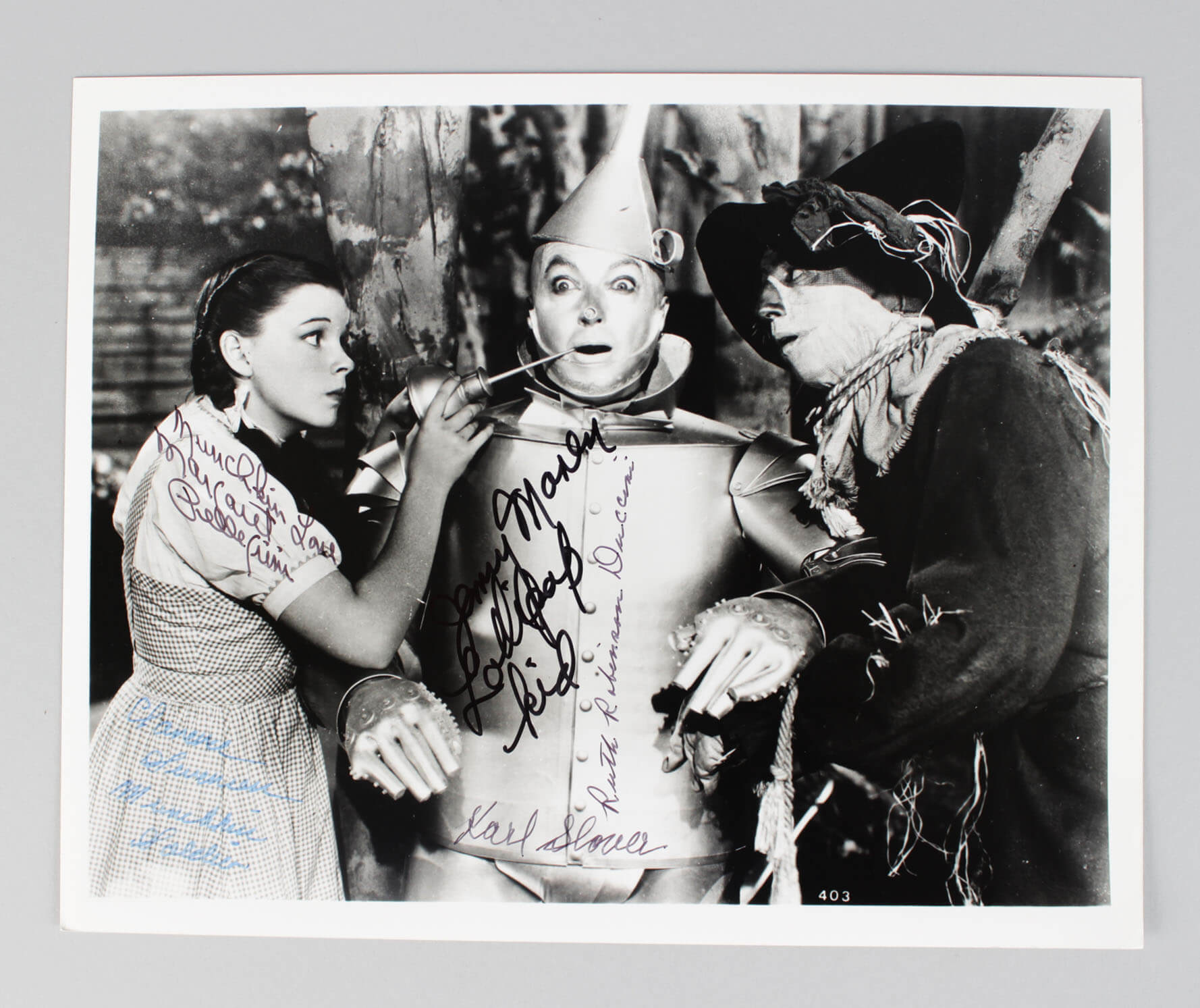 Wizard of Oz Signed 8x10 Photo (5) Munchkins - Maren, Slover etc. (JSA)