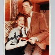 Actors Lot - Dana Andrews, Robert Stack & (2) Lauren Bacall Signed 8x10 Photos (JSA)
