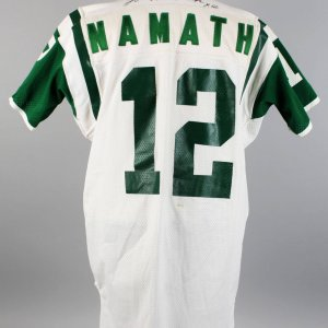 Late 1970s New York Jets - Joe Namath Game-Worn, Signed Away Jersey (JSA)-Provenance