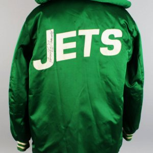 Joe Namath 1969 New York Jets Game-Worn, Signed Heavy Warm-Up Jacket (JSA)