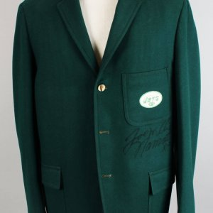 1969 New York Jets - Joe Namath Traveling Worn, Signed Team Blazer Suit Jacket (JSA, Provenance LOA)