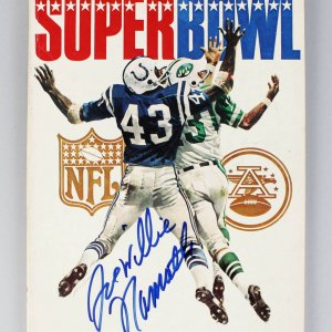 January 12, 1969 Super Bowl III - New York Jets vs. Baltimore Colts Program Signed & Insc. by Joe Willie Namath - JSA Full LOA