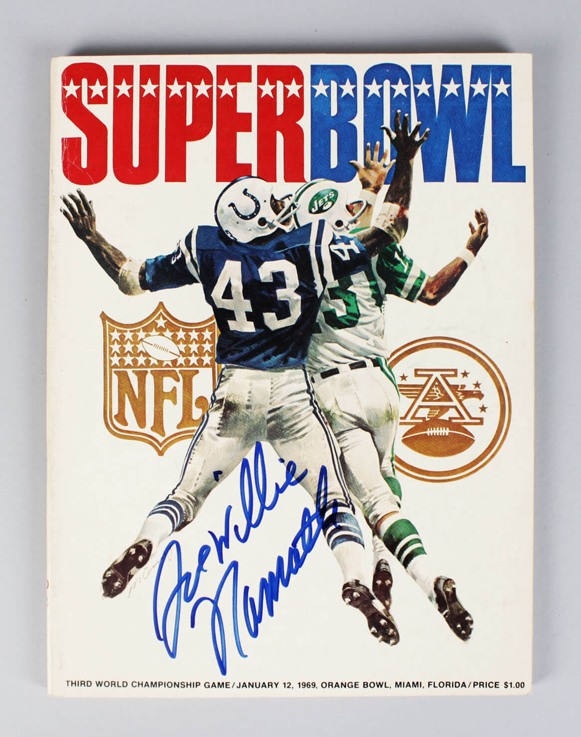 Joe Namath Signed Program Jets Super Bowl III - COA JSA