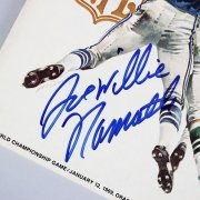 January 12, 1969 Super Bowl III - New York Jets vs. Baltimore Colts Program Signed & Insc. by Joe Willie Namath - JSA Full LOA