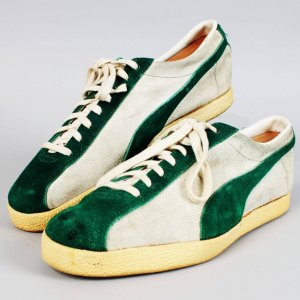 Vintage New York Jets - Joe Namath Custom Worn Walking Puma Sneakers Shoes
