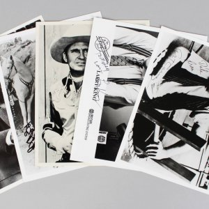 TV Stars (5) Signed 8x10 Photos Lot - Art Carney, Ray Walston, Gene Autry etc. (JSA)