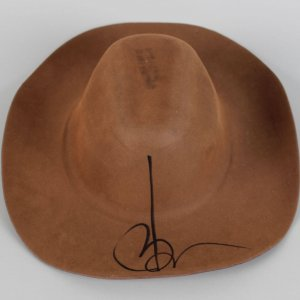Movie Star - Johnny Depp Signed Felt Hat - COA PSA/DNA Hologram