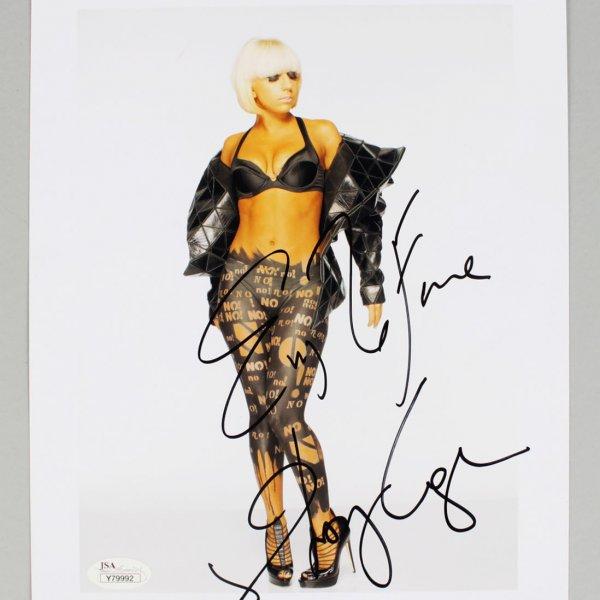 Lady Gaga Signed 8x10 Photo - JSA Full LOA